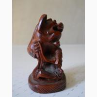 Винтажная деревянная статуэтка FOO DOG