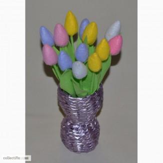 Тюльпаны с фетра ручной работы