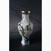 Винтажная Китайская декоративная ваза с изображением сакуры