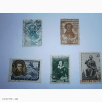 Продам марки 1937г - 100 лет смерти Пушкина, 1947 г, 1956г, 1963г