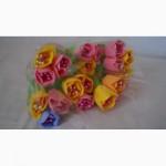 Раскрытые тюльпаны с фетра ручной работы