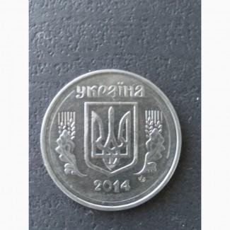 Продам монету 5коп.2014р. з браком аверса