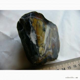 Полированный кристалл мозаичного Агата, коллекционный, 247 грамм СССР