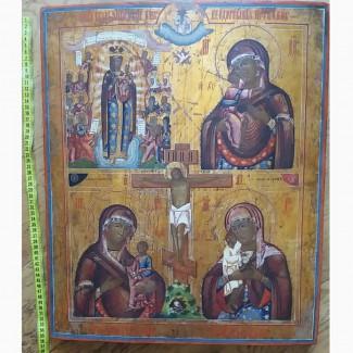 Икону четырехчастную 19 век