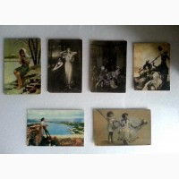 Старинные открытки 6 шт