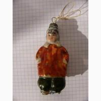 Ёлочная игрушка мальчик 50-е г. СССР