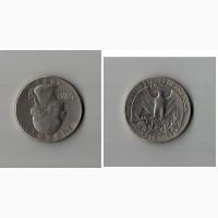 Продам монету LIBERTY quarter dollar 1983 перевертыш