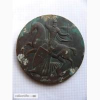 Медаль настольная 1242 года Ледовое Побоище с дарственной надписью