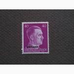 Почтовая марка. Adolf Hitler. Deutsches Reich. Ostland. 40 pf. 1941г. SC 15