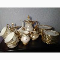 Коллекционный антикварный фарфоровый сервиз Золотая Роза Рошутц