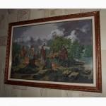Продам картину вишиту хрестиком Ісус і апостоли