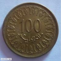 100, 50, 20 и 10 миллим Тунис