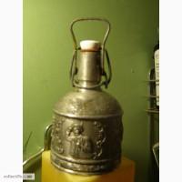 Продам старую оловянную бутылку. Художественное литье. Германия