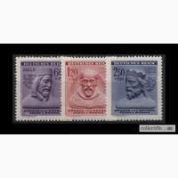Deutsches Reich. 1943г. Ми 114-116. Серия из 3-х марок