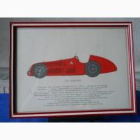 Рисунки винтажных автомобилей Альфа Ромео с описанием
