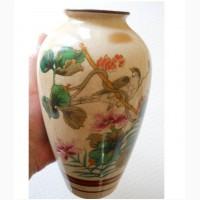 """Старинная Японская ваза для цветов """"Kutani-Satsuma"""