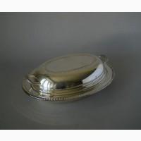 Мельхиоровый судок с крышкой для горючих блюд от F. B. Rogers Silver Company