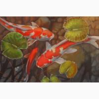 Продам копию картины Терри Жилецки Рыбки кои