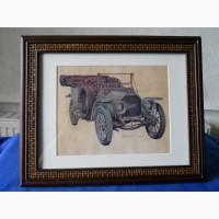 Рисунок раритетного авто Peerless-1909