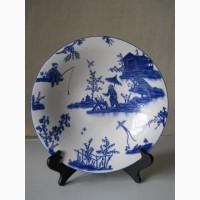 Винтажное интерьерное Китайское фарфоровое блюдо