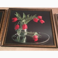Продам вишиту картину тюльпани