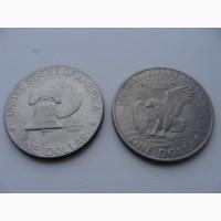1 доллар США 2 разных одним лотом
