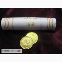 Украина 10 копеек, 2014 Сталь с латунным покрытием /магнетик/