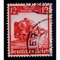 Марка Германия 1935 год паровоз, локомотив