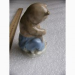 Фарфоровая статуэтка мишка с балалайкой, Городница, СССР