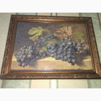 Продам вишиту картину виноград