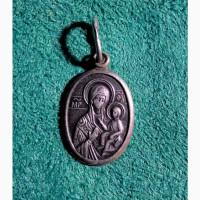 Кулон икона Мать Божья серебро Богородица подвеска