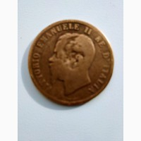 Продам монету италии 10чентесими 1862г