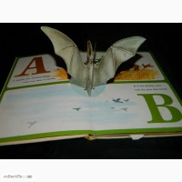 3D Азбука Буквар Pop Up Animal Alphabet Book by Random House 1973 США