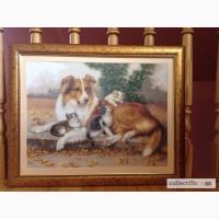 Продам картину вышитую крестиком Няня