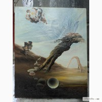 Сюреализм, жанровая живопись Эволюция наоборот 66/53 см.х/м 91 г. Н.Выдаевич