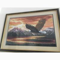 Продам вишиту картину орел