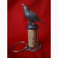 Винтажная декоративная пробка для вина Перепелка
