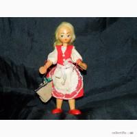Винтажная Деревянная Польская Кукла 1970х годов