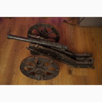 Макет салютной пушки -фальконет 1743 г, с двухглавым орлом