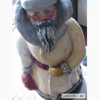 Довоенный Дед Мороз, артель им.ХVIII партконференции-Кунгурская ф-ка, гипс, 37см