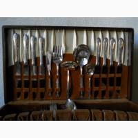 Старинный столовый мельхиоровый набор на 8 персон