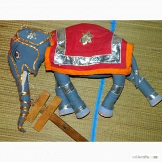 Винтажная Кукла Марионетка Индийский Слон