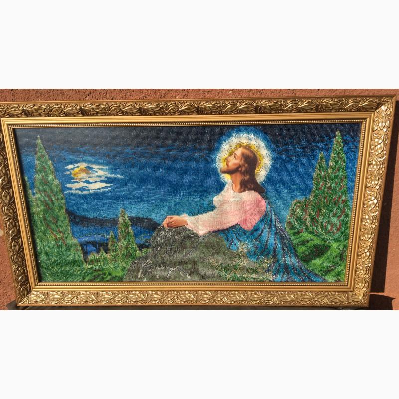 Фото 3. Продам ікону Ісус на оливній горі, вишиту бісером