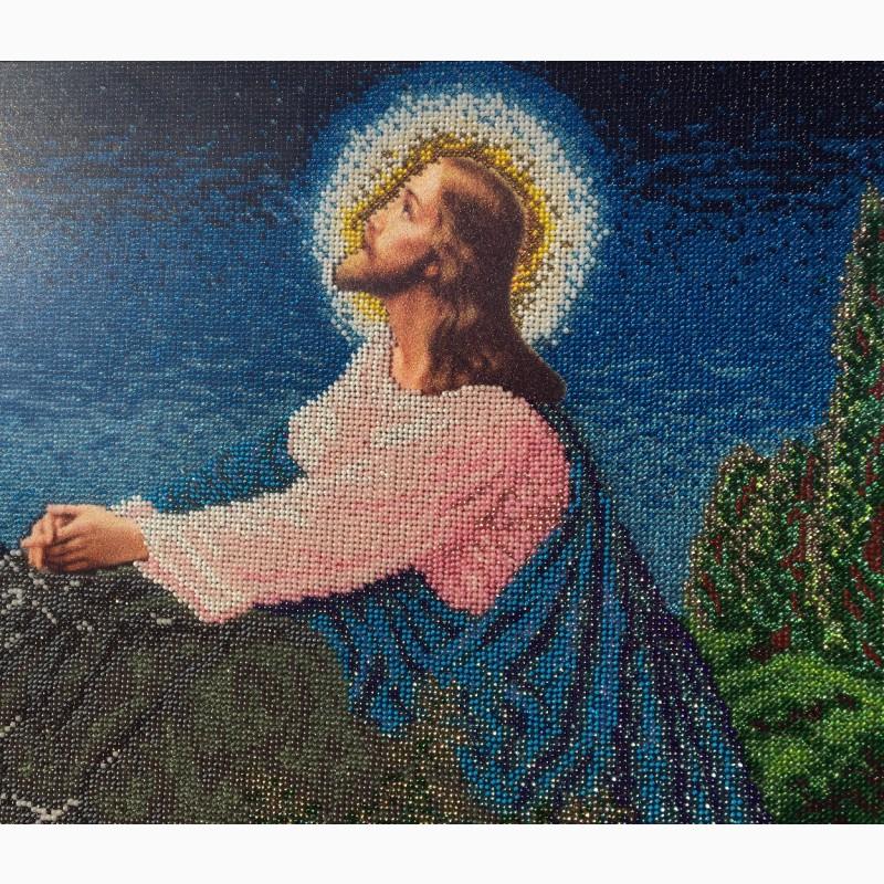 Фото 4. Продам ікону Ісус на оливній горі, вишиту бісером