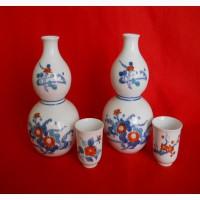 Японские фарфоровые вазочки и стопочки