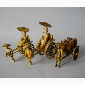 Винтажные статуэтки Рикша
