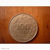 100 лир 1987 Турция