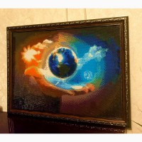 Продам картину Планета Земля в Божих руках