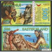 Банкнота 500 ронго 2012 г Остров Пасхи