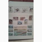 Альбом почтовых марок разных стран мира.Тематика спорт